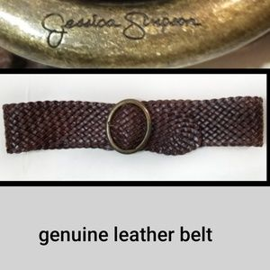 [Jessica Simpson]Genuine Leather Belt L